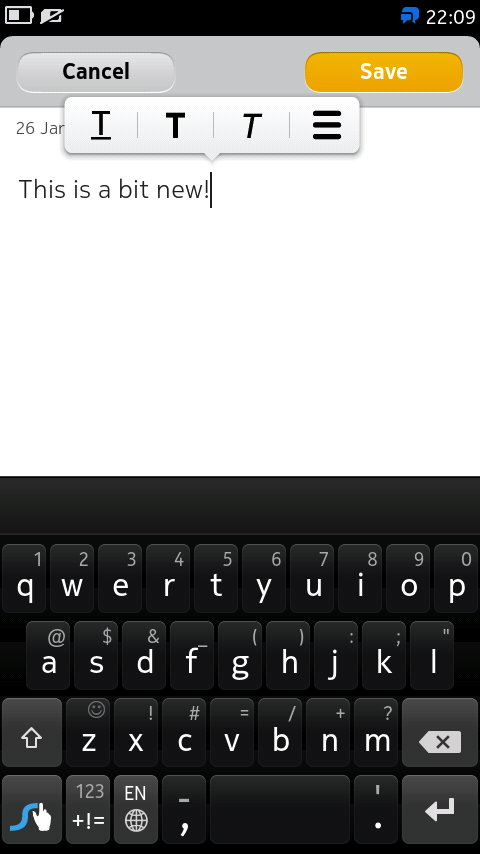 Swype keyboard is updated